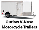 Outlaw V-Nose Motorcycle Trailer