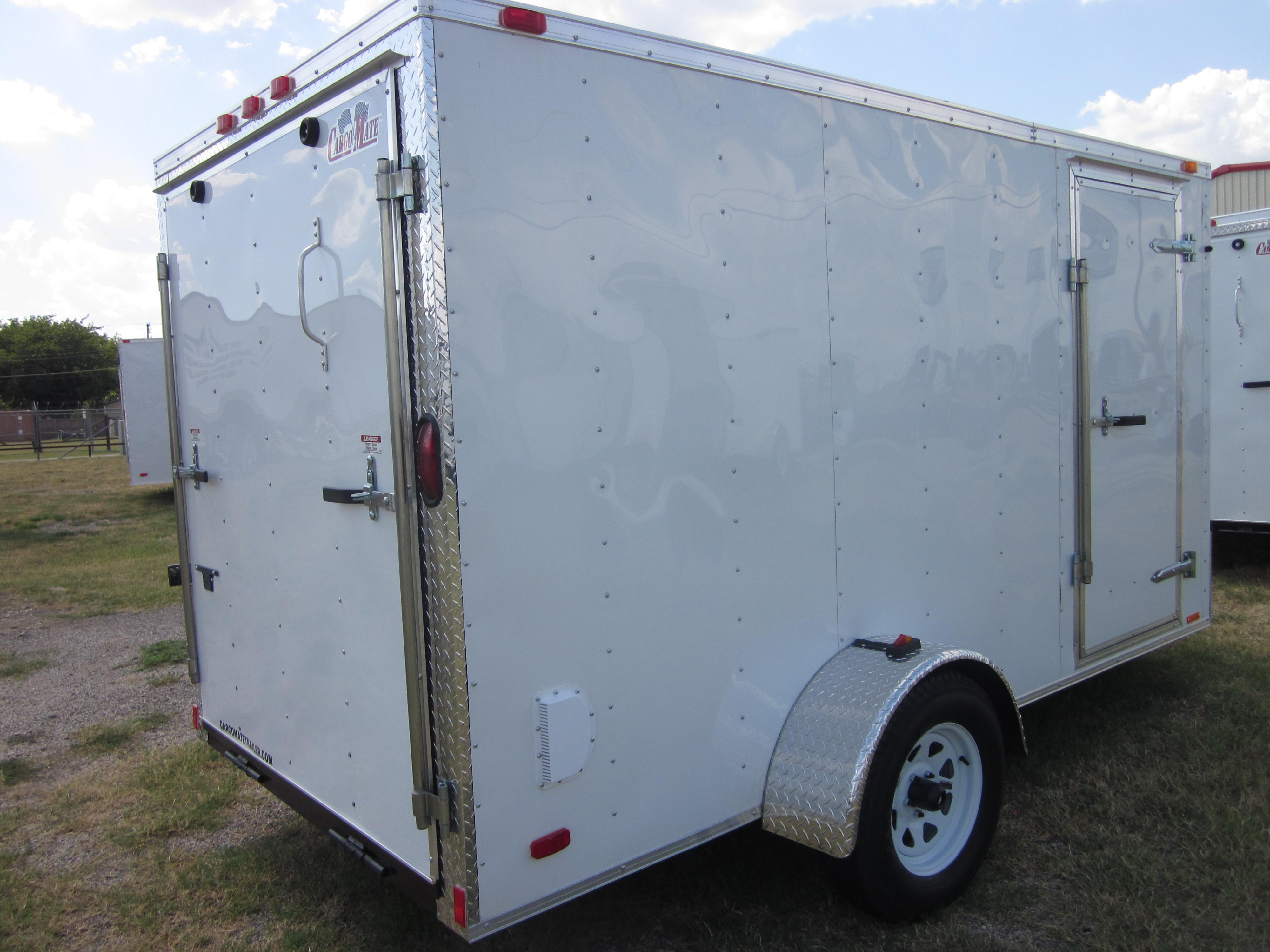 6x12 Econo Enclosed Enclosed Utility Cargo Car